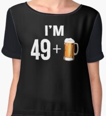 Funny 50th Birthday 50 Year Old Beer Lovers Gift Women's Chiffon Top