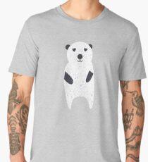 Polar Bear with texture illustration  Men's Premium T-Shirt