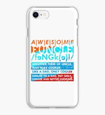 Vintage retro Awesome funcle teeshirts iPhone Case/Skin