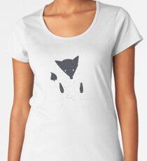 Cute fox with texture illustration Women's Premium T-Shirt