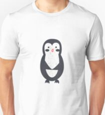 Penguin cute pattern illustration with texture Unisex T-Shirt