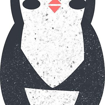 Penguin cute pattern illustration with texture by Julli
