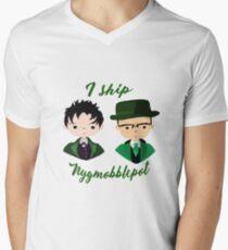 I ship Nygmobblepot Men's V-Neck T-Shirt