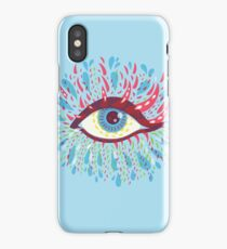 Weird Blue Psychedelic Eye iPhone Case/Skin