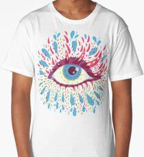 Weird Blue Psychedelic Eye Long T-Shirt
