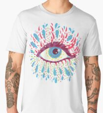 Weird Blue Psychedelic Eye Men's Premium T-Shirt
