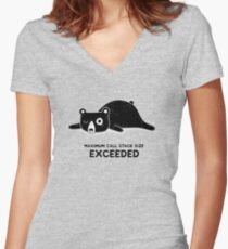 Maximum Call Stack Size Exceeded - Programming Women's Fitted V-Neck T-Shirt