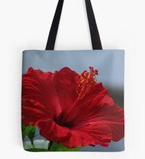 Painted Hibiscus Tote Bag