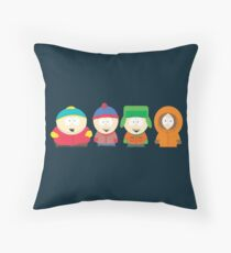 South Park Characters Throw Pillow