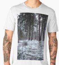 First snow in forest Men's Premium T-Shirt