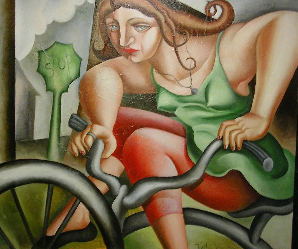 Bicycler by Jocelyn Bullock
