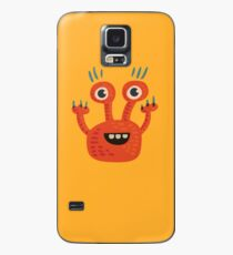 Funny Orange Creature Case/Skin for Samsung Galaxy