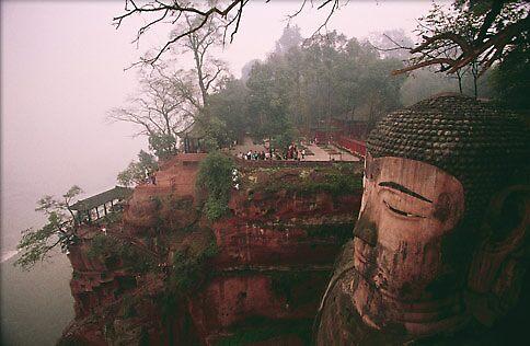 largest Buddha, China by chord0