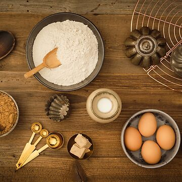 Basic baking ingredients by ECoelfen