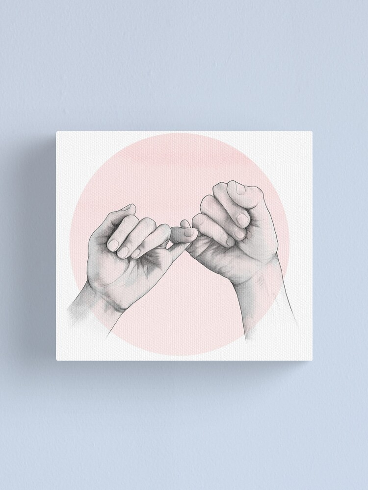 Alternate view of pinky swear // hand study Canvas Print