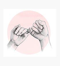 pinky swear // hand study Photographic Print