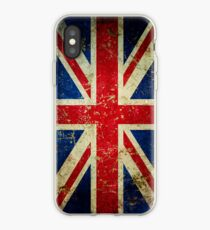 Grunge Union Jack - Scratched Metal Effect iPhone Case