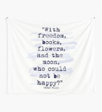 Freedom Books Flowers The Moon Happiness Wall Tapestry