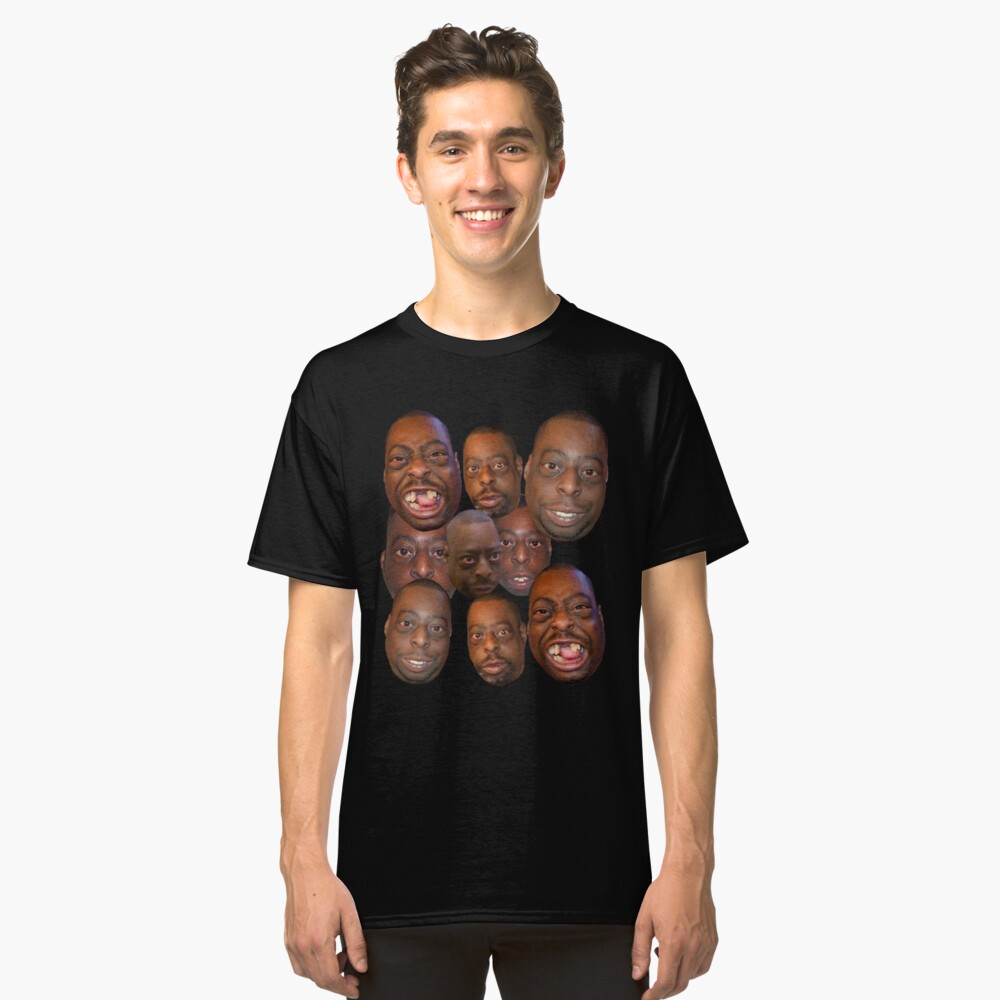 Beetlejuice Head Lester Green Stern Show Classic T-Shirt Front