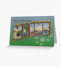 Seasons Greetings from Maine Greeting Card