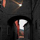 Narrow Street in Assisi, Italy by Al Bourassa
