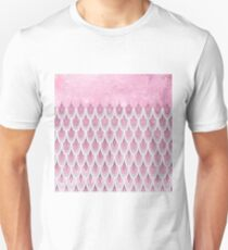 Shiny Pink Glitter Mermaid Fish Scales T-Shirt