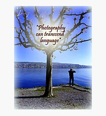 Photographing Zurisee Photographic Print