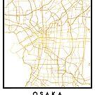 OSAKA JAPAN CITY STREET MAP ART by deificusArt