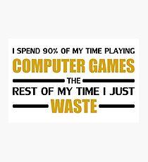 Computer Gaming Photographic Print