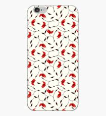 Delicate Red Flower Pattern iPhone Case