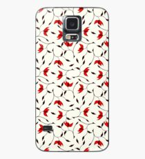 Delicate Red Flower Pattern Case/Skin for Samsung Galaxy