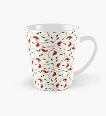 Delicate Red Flower Pattern Tall Mug