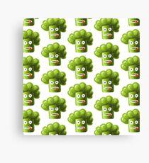 Funny Broccoli Pattern Canvas Print