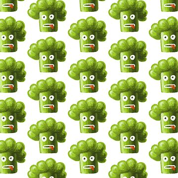 Funny Broccoli Pattern by azzza