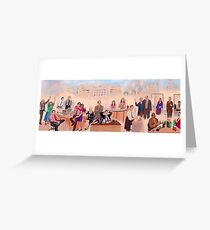 The Office Cast Mural Greeting Card