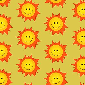 Cute Happy Sun Pattern by azzza