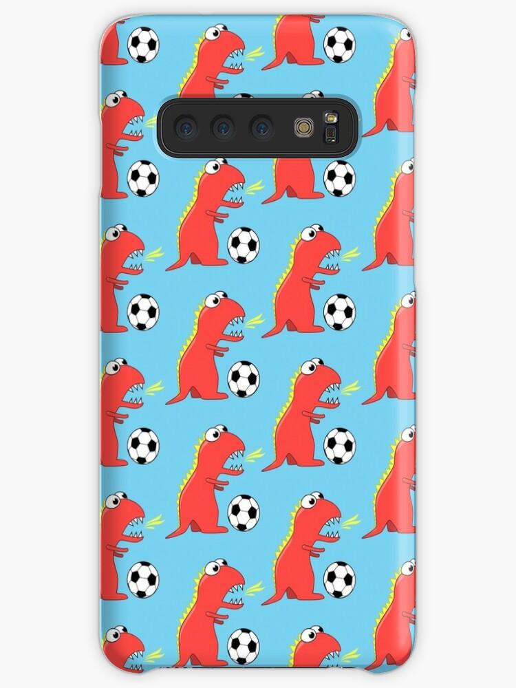 Fun Dinosaur Pattern (Black Background) Samsung S10 Case