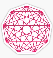 Nonagon Infinity Drawing Stickers Redbubble