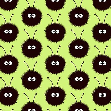 Green Cute Dazzled Bugs Pattern by azzza