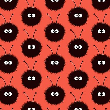 Red Cute Dazzled Bugs Pattern by azzza