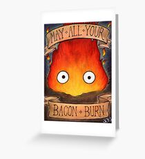 Studio Ghilbi Illustration: CALCIFER #3 Greeting Card