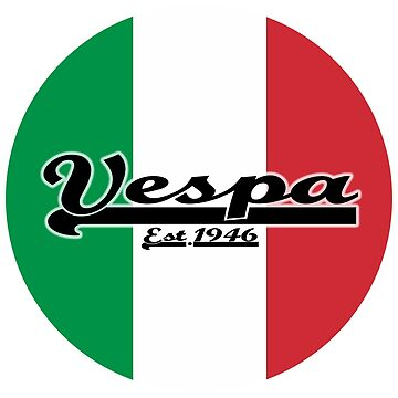Team Vespa - Italian Flag Round by ScooterStreet