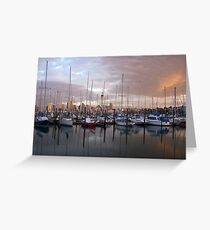 Westhaven Harbour - Boats Greeting Card