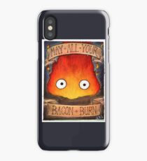 Howl's Moving Castle Illustration - CALCIFER (original)  iPhone Case