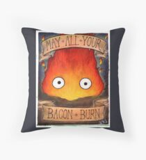 Howl's Moving Castle Illustration - CALCIFER (original)  Throw Pillow