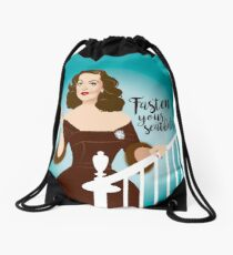 Fasten your seatbelts Drawstring Bag