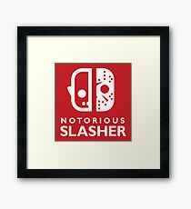 Notorious Slasher Framed Print