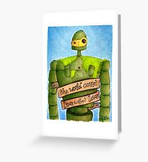 Laputa: Castle In The Sky Illustration - ROBOT Greeting Card