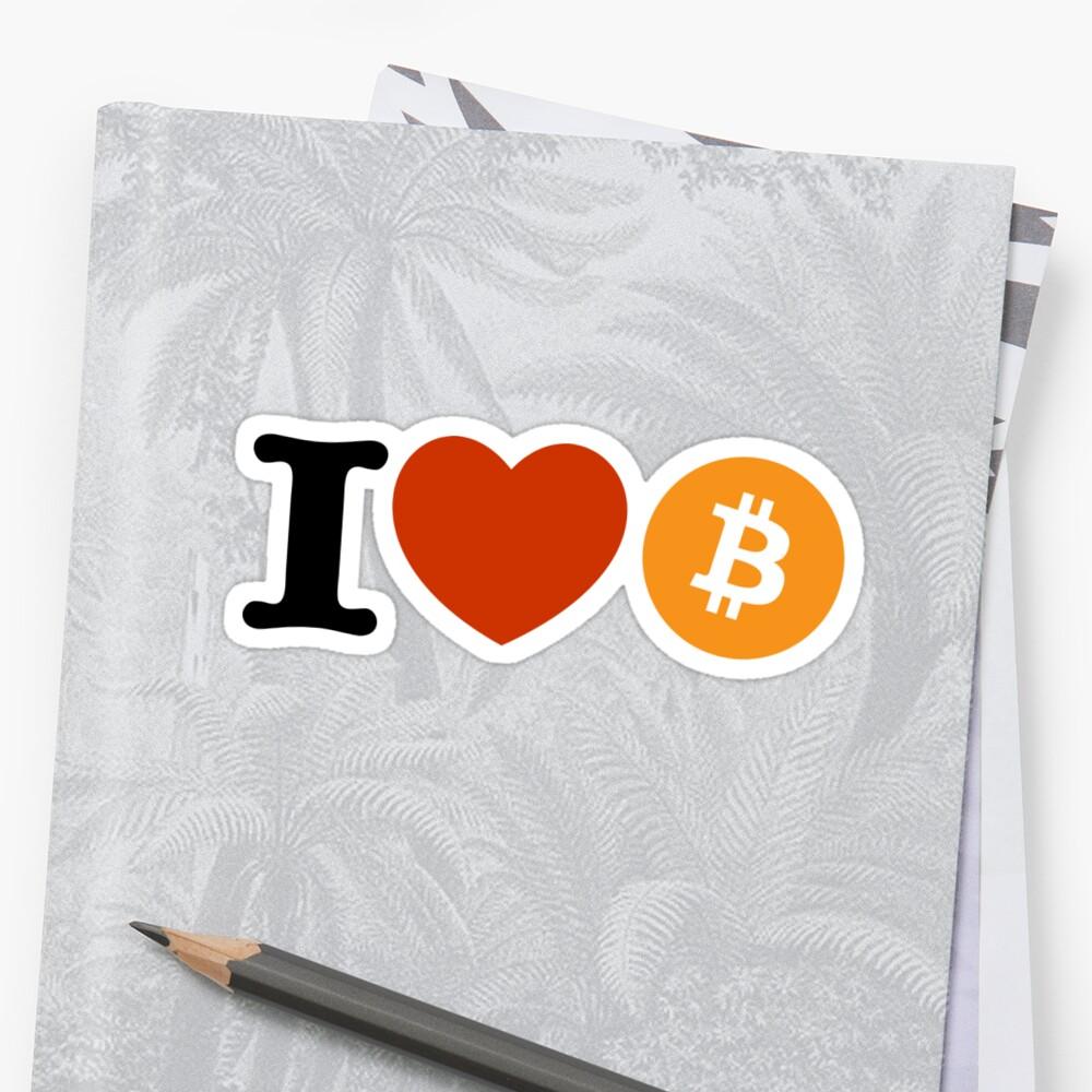 «I love Bitcoin» de yourgeekside