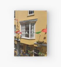 Looking Down at Life on the Street at Tenby, Wales Hardcover Journal